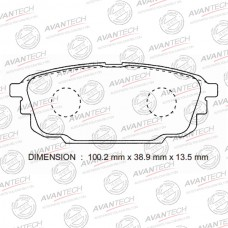 Колодки тормозные дисковые Avantech AV1033