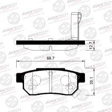 Колодки тормозные дисковые Avantech AV114