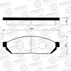 Колодки тормозные дисковые Avantech AV183