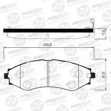 Колодки тормозные дисковые Avantech AV194