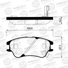 Колодки тормозные дисковые Avantech AV196