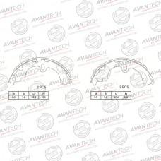 Колодки тормозные барабанные Avantech AVS0101