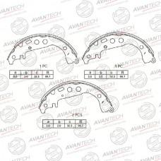Колодки тормозные барабанные Avantech AVS0103