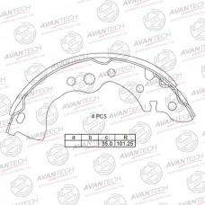 Колодки тормозные барабанные Avantech AVS0211