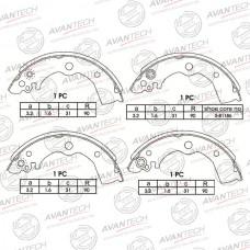 Колодки тормозные барабанные Avantech AVS0401
