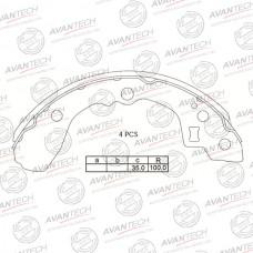 Колодки тормозные барабанные Avantech AVS1101