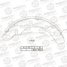 Колодки тормозные барабанные Avantech AVS1302