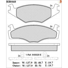 Колодки тормозные дисковые R BRAKE RB0460