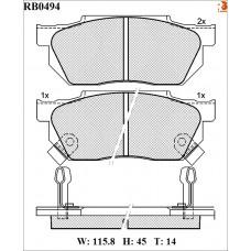 Колодки тормозные дисковые R BRAKE RB0494