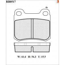 Колодки тормозные дисковые R BRAKE RB0517