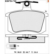 Колодки тормозные дисковые R BRAKE RB0784-700