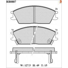 Колодки тормозные дисковые R BRAKE RB0887