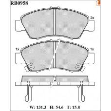 Колодки тормозные дисковые R BRAKE RB0958
