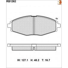 Колодки тормозные дисковые R BRAKE RB1262