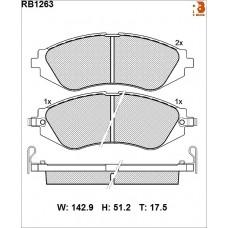 Колодки тормозные дисковые R BRAKE RB1263