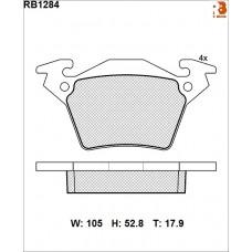 Колодки тормозные дисковые R BRAKE RB1284