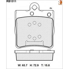 Колодки тормозные дисковые R BRAKE RB1311