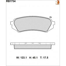 Колодки тормозные дисковые R BRAKE RB1734