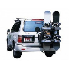Крепление для лыж/сноубродов на запасное колесо Rear tire mount ski/snowboard rack (4 пары лыж/ 4 сноуброда) INNO CN766