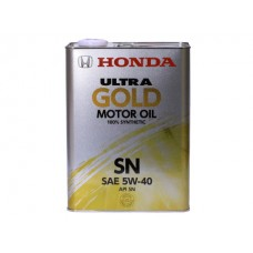 Масло моторное  Ultra GOLD 100% synthetic SN 5W-40, 4л Honda 08220-99974