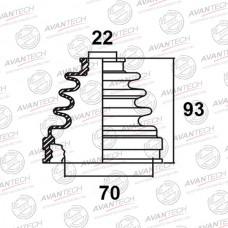 Пыльник привода Avantech BD0107